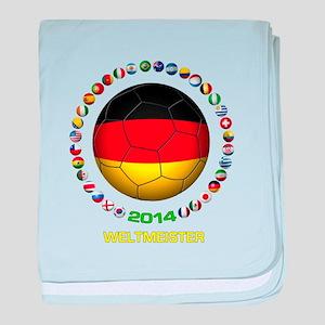 Deutschland Weltmeister 2014 baby blanket