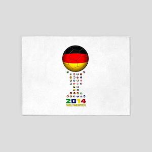 Deutschland Weltmeister 2014 5'x7'Area Rug
