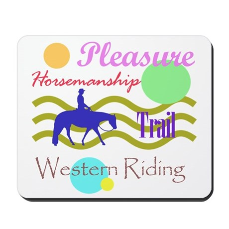 All around western in brights Mousepad