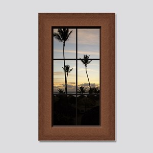Faux Window View Palm Trees 35x21 Wall Decal