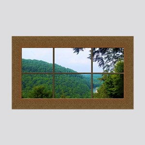Fake Window Mural Mountain View 35x21 Wall Decal