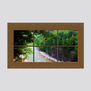 Fake Window Mural Gorge View 35x21 Wall Decal