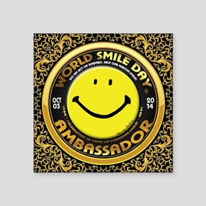 World Smile Day 2014 Ambassador Sticker