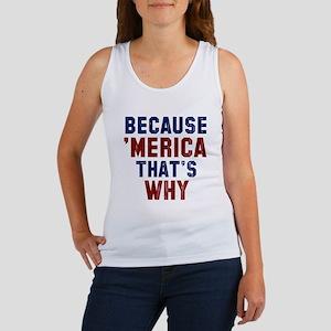 Because Merica Tank Top