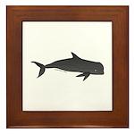 Pilot Whale c Framed Tile