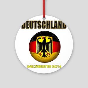 Deutschland Weltmeister 2014 Ornament (Round)