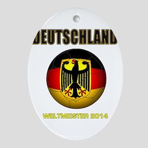Deutschland Weltmeister 2014 Ornament (Oval)