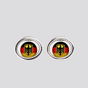 Deutschland Weltmeister 2014 Oval Cufflinks
