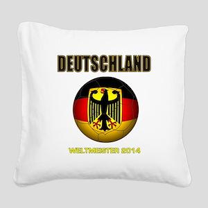Deutschland Weltmeister 2014 Square Canvas Pillow