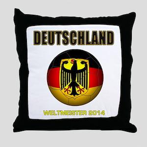 Deutschland Weltmeister 2014 Throw Pillow