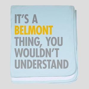 Belmont Bronx NY Thing baby blanket