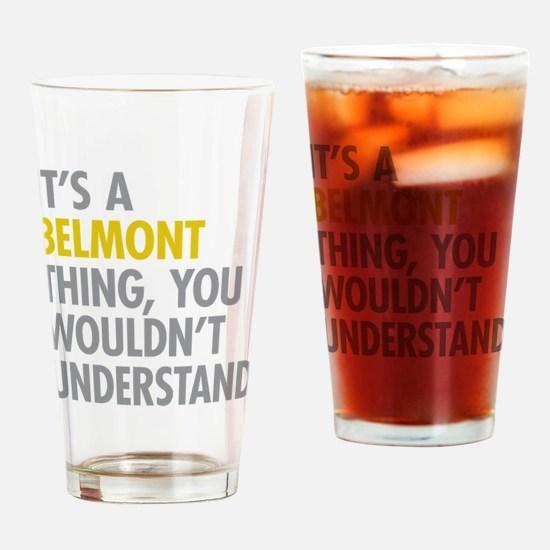 Belmont Bronx NY Thing Drinking Glass