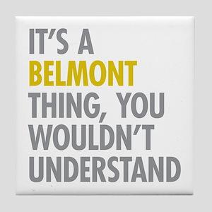 Belmont Bronx NY Thing Tile Coaster