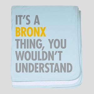 Bronx NY Thing baby blanket