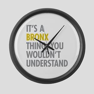 Bronx NY Thing Large Wall Clock