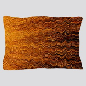 Colorful Abstract light wave lines Pillow Case