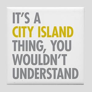 City Island Bronx NY Thing Tile Coaster