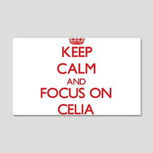 Keep Calm and focus on Celia Wall Decal