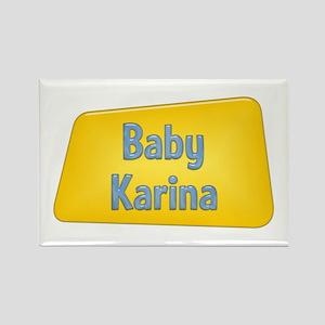 Baby Karina Rectangle Magnet