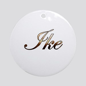 Gold Ike Round Ornament