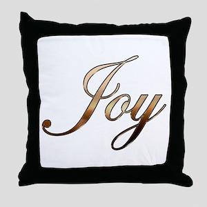 Gold Joy Throw Pillow