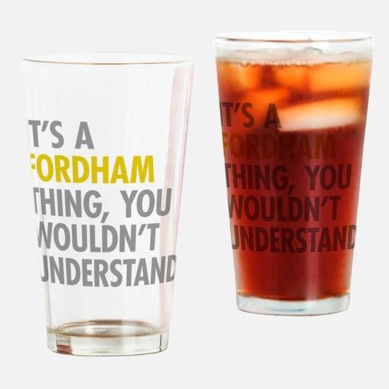 Fordham Bronx NY Thing Drinking Glass