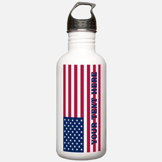 Personalized American Flag Water Bottle