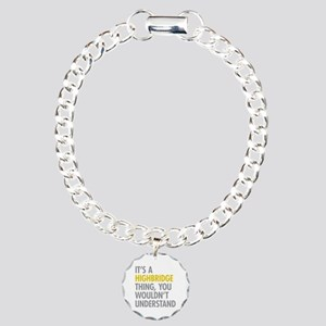 Highbridge Bronx NY Thin Charm Bracelet, One Charm