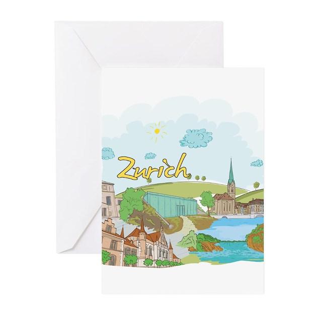 Zurich Switzerland Greeting Cards By Worldcultures