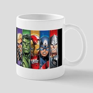 Avengers Assemble Striped Mug