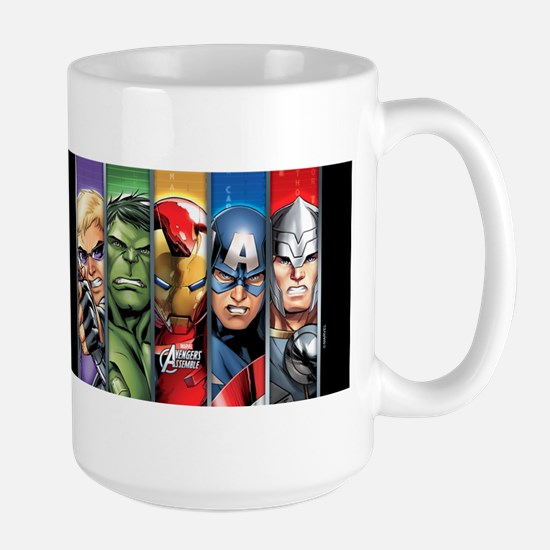 Avengers Assemble Striped Large Mug