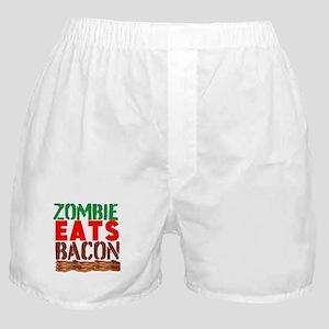 Zombie Eats Bacon Boxer Shorts