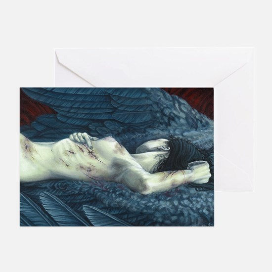 Make-Shift Angel XII Greeting Cards