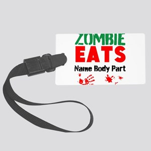 Zombie Eats Luggage Tag