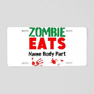 Zombie Eats Aluminum License Plate