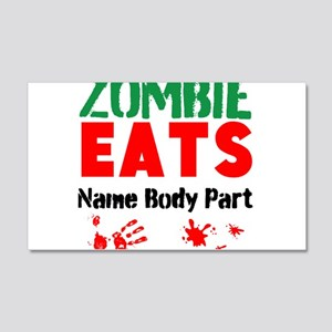 Zombie Eats Wall Decal