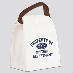 Property Of History Department Canvas Lunch Bag