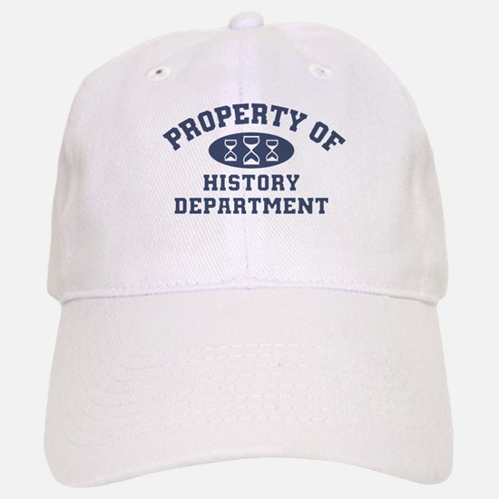 Property Of History Department Baseball Baseball Baseball Cap