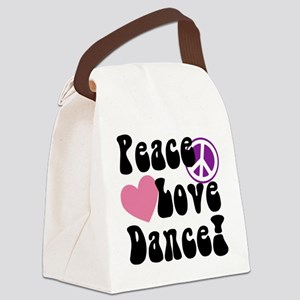 Peace, Love, Dance Canvas Lunch Bag