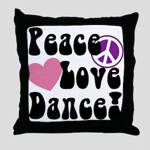 Peace, Love, Dance Throw Pillow