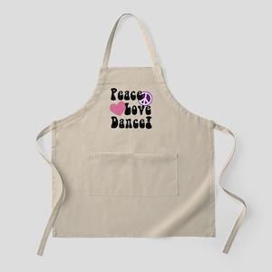 Peace, Love, Dance Apron