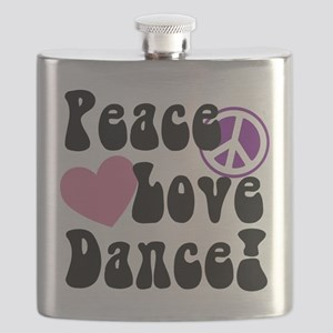 Peace, Love, Dance Flask