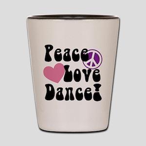 peace love dance shot glasses cafepress
