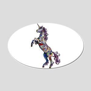 Wild Unicorn 20x12 Oval Wall Decal
