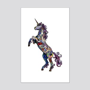 Wild Unicorn Mini Poster Print