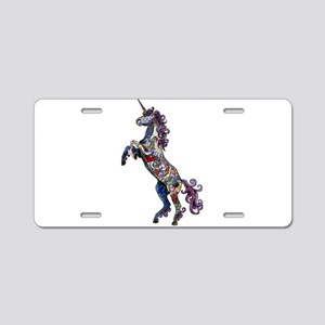 Wild Unicorn Aluminum License Plate