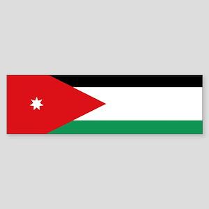Flag of Jordan Sticker (Bumper)