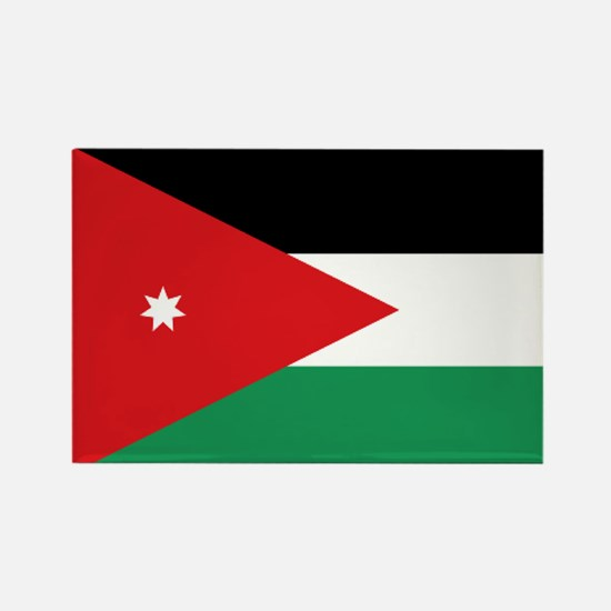Flag of Jordan Rectangle Magnet