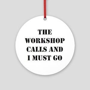 workshop calls Ornament (Round)