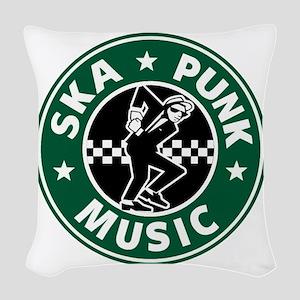 SKA PUNK MUSIC Woven Throw Pillow